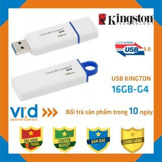 [Mã ELFLASH5 giảm 20K đơn 50K] [USB 3.0 CHÍNH HÃNG] USB Kington 3.0 DataTraveler G4-16GB - Bảo hành 60 tháng !