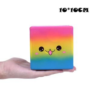 Cục nắn bóp trẻ em đàn hồi chậm hình vuông cảm xúc quà tặng đồ chơi JL-1163