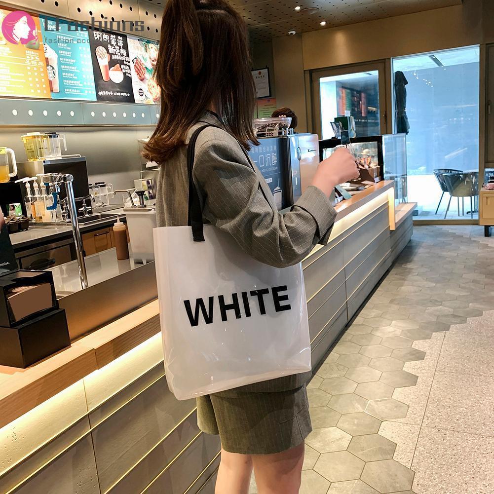 Túi đeo vai nhựa PVC trong suốt thời trang cho nữ