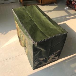Loại dày- Size 1,2,3,4- Túi đựng đồ bằng vải bạt đa dụng có khóa kéo hai đầu.
