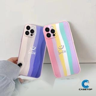 Casing Xiaomi POCO X3 NFC Camera Protector Case Xiaomi Redmi 9 9C NFC 9A Redmi Note 10 10pro Max Note9 Note 9pro 9s 8 7 Note10 Note10pro Xiaomi POCO X3 POCO X3 Pro Cute Smiley Rainbow Shockproof Case Skin Feel Impact Matte Cover