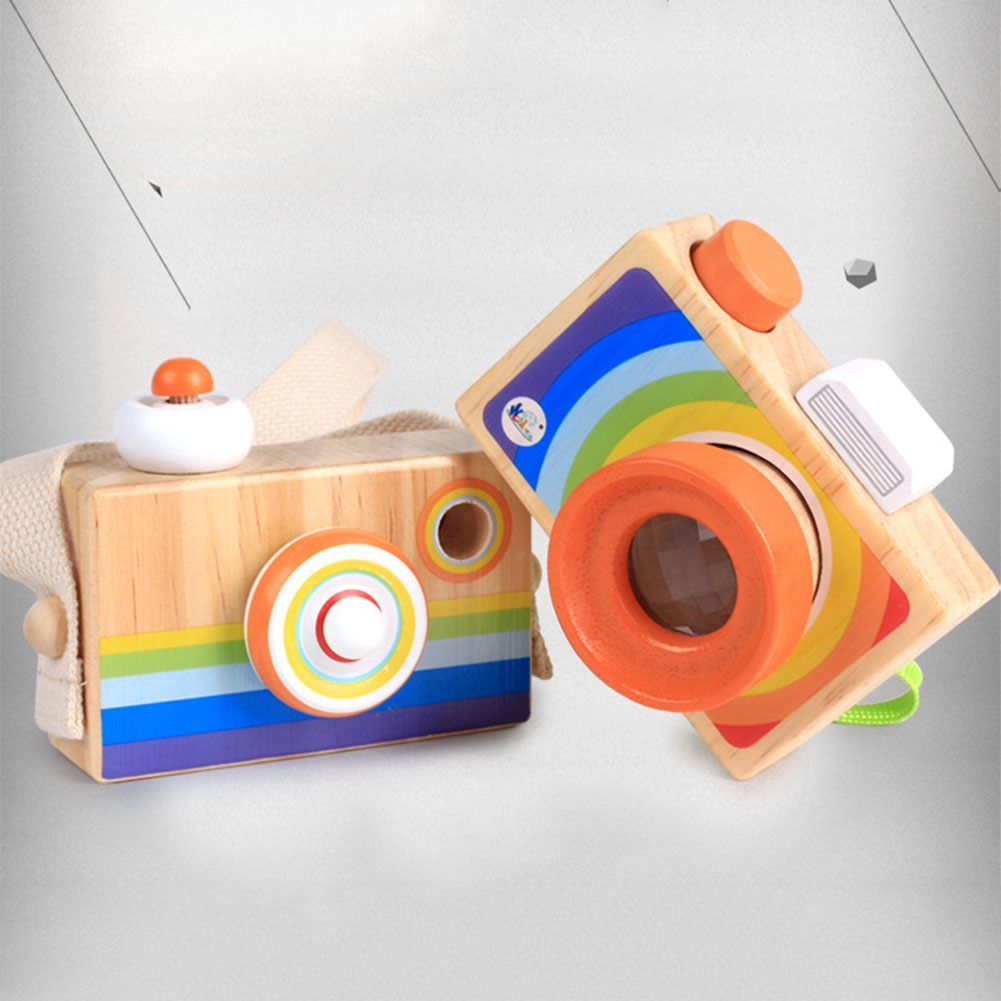 Toy Baby Educational Mini Hanging Decorations Cartoon Camera Gift Kids Wood