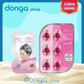 Set Kem ủ tóc - Viên dưỡng tóc Ellips chăm sóc tóc hư tổn thumbnail