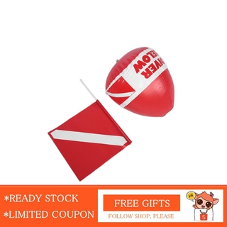 Nearbeauty PVC Diving Surface Marker Inflatable Signal Floater Dive Bouy Ball with Flag