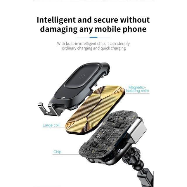 Giá đỡ điện thoại tích hợp sạc không dây BÁEUS-BH 6 Tháng