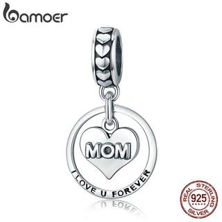 Mặt dây chuyền Bamoer mạ bạc 925 khắc chữ xinh xắn