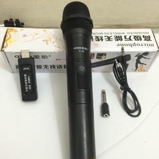 Mic không dây V10 kết nối không dây thu âm tốt cho âm thanh trung thực