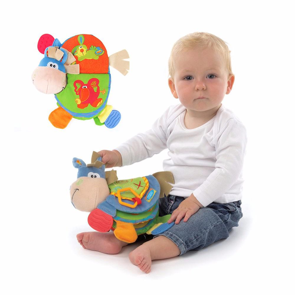 Cloth Books Baby Rattles Teether Toys Newborn Infant Books