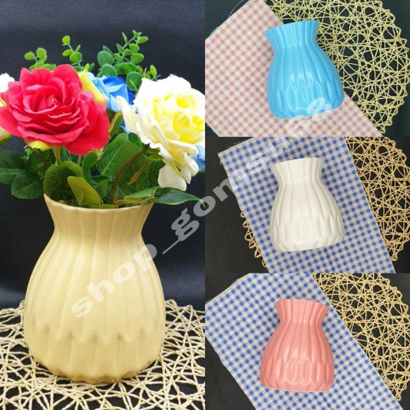 Lọ cắm hoa sứ Bát tràng, bình cắm hoa sứ dáng giỏ cua tráng men mát đủ màu lựa chọn
