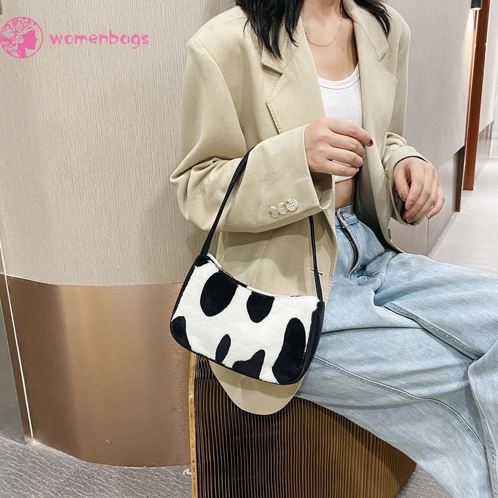 Túi đeo vai mềm mại họa tiết xinh xắn trẻ trung cho nữ