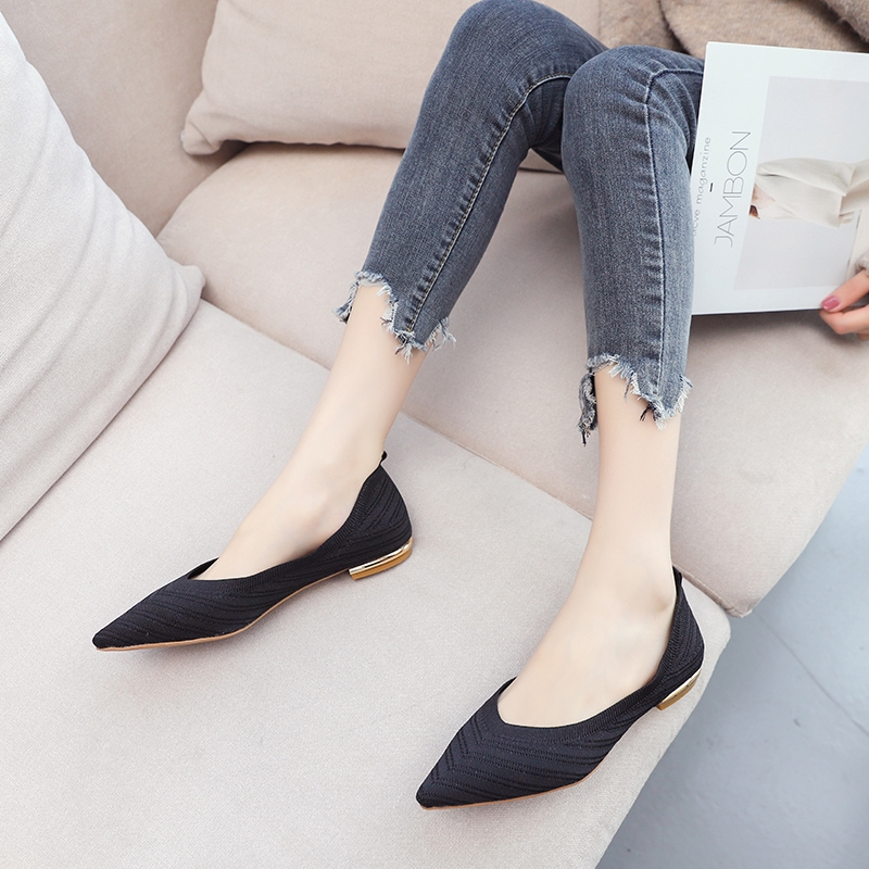 Giày búp bê mũi nhọn phong cách trẻ trung thanh lịch dành cho nữ
