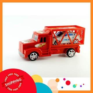 Bộ xe ô tô kéo và 1 xe ô tô con cho bé yêu thỏa sức vui đùa