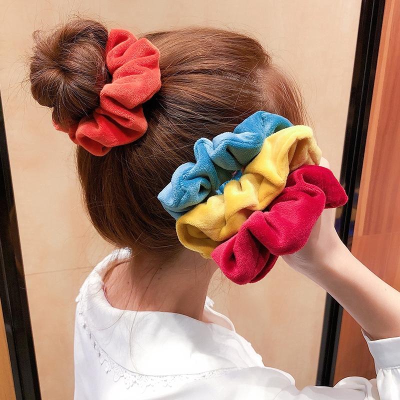 Nhập WAFACB20K giảm 20K cho đơn từ 99K_✨H&G✨Velvet Elastic Hair Bands,Velvet Large Intestine Scrunchies,Chiffon Hair Scrun
