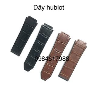 Phụ kiện thay thế cho dây đồng hồ kiểu hublốt dây lót da vân cá sấu tặng kèm tôvit thay dây