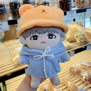 Set áo và mũ gấu cho doll 20cm