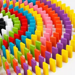 Bộ 100 Quân Domino Nhiều Màu Gỗ