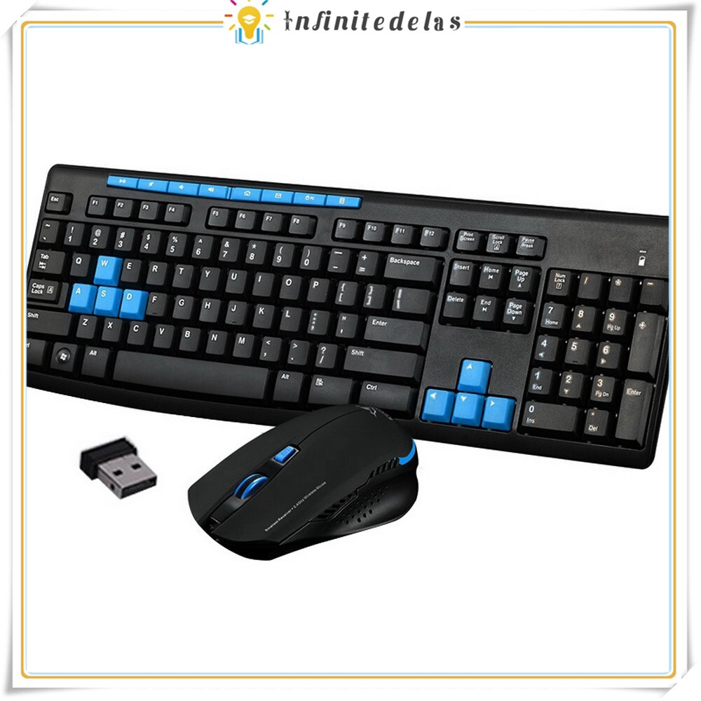 INFINITE Wireless Gaming Keyboard Mouse Combo 2.4G Mice Mechanical Multimedia Set Giá chỉ 285.923₫