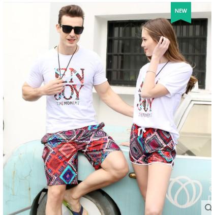[B23418-10] Set quần đôi thổ cẩm đi biển thời trang
