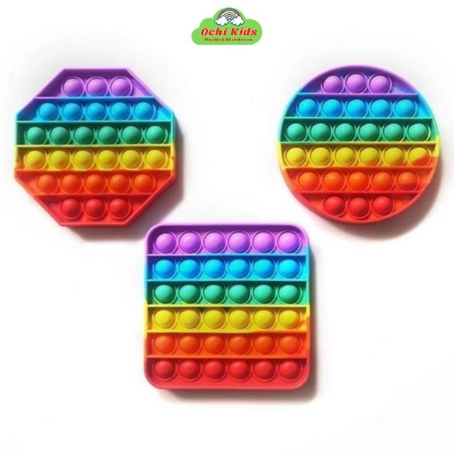 [Trùm Sỉ] Poppit Toy Giá Rẻ, Đồ Chơi Bóp Bóng Pop Pit Giải Trí Thông Minh Giúp Giảm Căng Thẳng Hiệu Quả Chất Liệu Silico