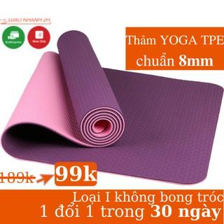 Thảm tập Yoga Gym chống trơn trượt 6mm-8mm miếng tập Yoga Gym thể dục tại nhà G-Sports