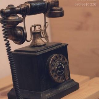 Mô hình trang trí điện thoại cổ điển giả cổ