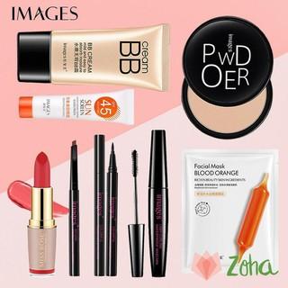 Bộ trang điểm IMAGES Kem BB + Kem chống nắng + Phấn phủ + Chì kẻ mày + Bút kẻ mắt + Mascara + Mặt nạ + Son lì ZH-BTD-M80