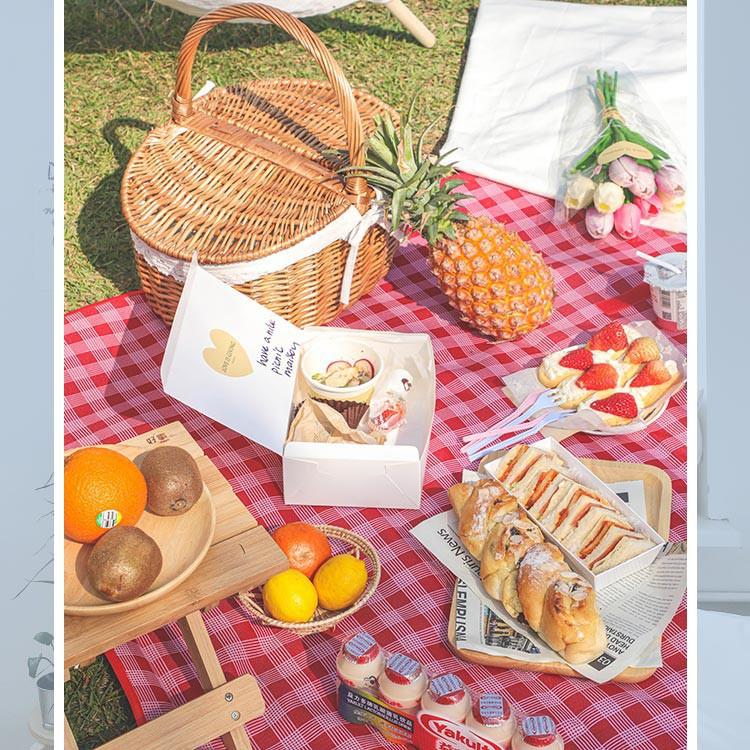 Thảm dã ngoại picnic du lịch có túi đựng shopsara