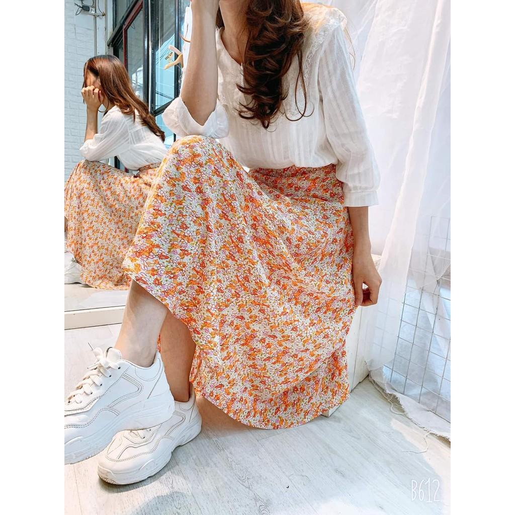 Chân váy hoa nhí cực xinh xắn