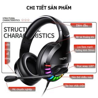 Tai nghe chụp tai Q2- Tai nghe có mic đàm thoại,đèn led nhiều màu sắc, dùng cho điện thoại, laptop, PC- Bảo hành 6 tháng