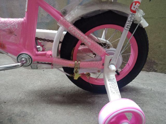 Xe đạp bé gái bánh hơi SHQ 12in cho bé 2-3 tuổi