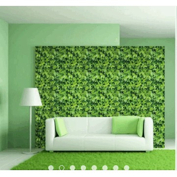 Giấy dán tường lá xanh 3D – (18k/m) – khổ rộng 45cm