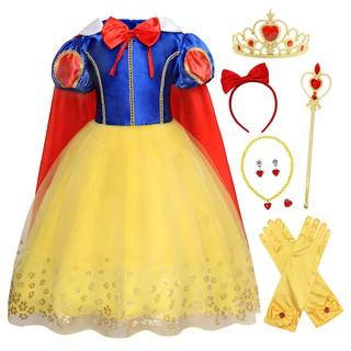 Bộ trang phục / Trang phục + phụ kiện hoá trang công chúa Bạch Tuyết cho bé gái