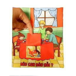 Sách vải Căn bếp nhỏ - Sách vải tương tác pipo