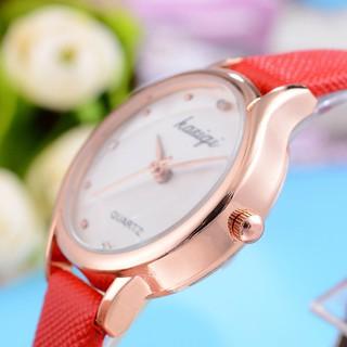 Đồng hồ thời trang nữ Kasiqi KC049 kiểu dáng Hàn Quốc, dây da mềm êm tay