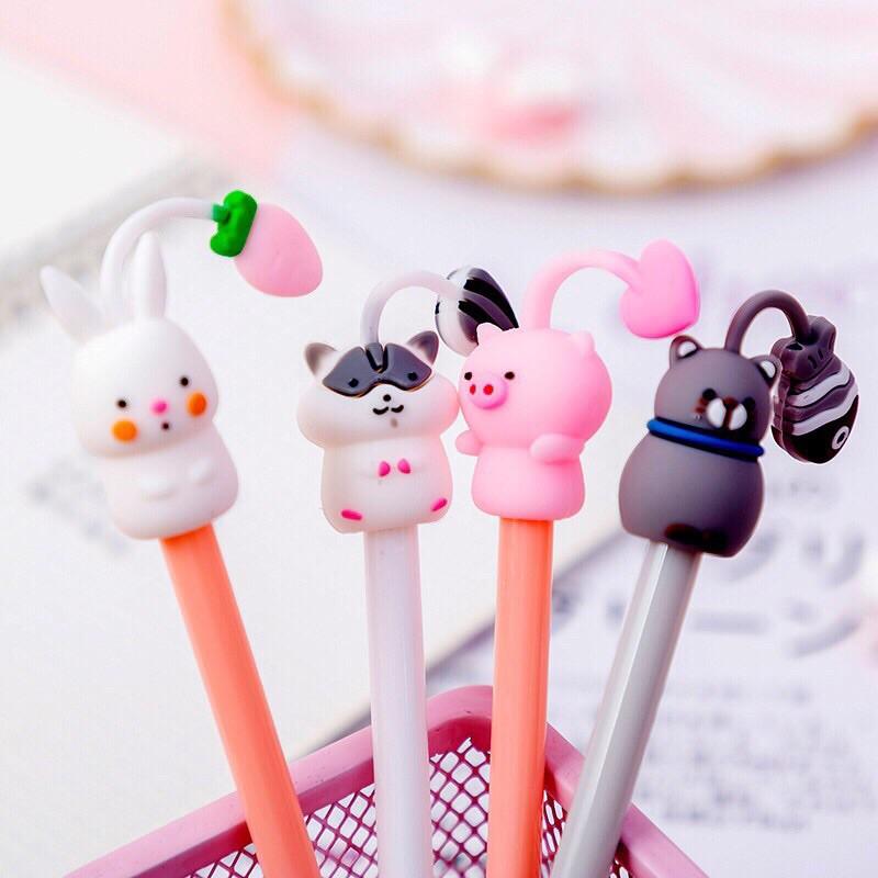 Bút thú cưng mọc đồ trên đầu siêu cute