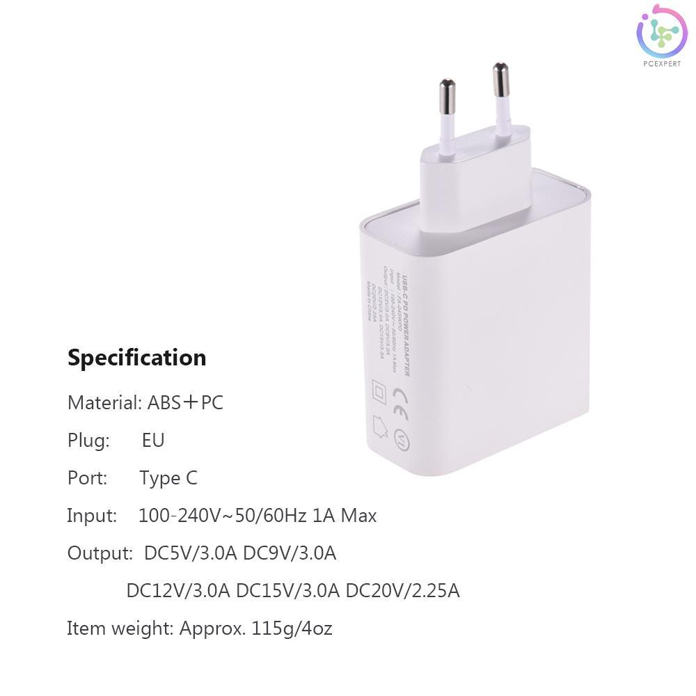 Cục Sạc Dyf-045Wpd Phích Cắm Eu Cho Macbook Pro 13-15 Galaxy Huawei Mate Serious