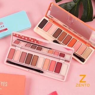 Bảng phấn mắt LAMEILA 12 màu thời thượng mix đầm nữ đẹp phấn mắt nội địa Trung bảng màu mắt 13g ZENTO thumbnail