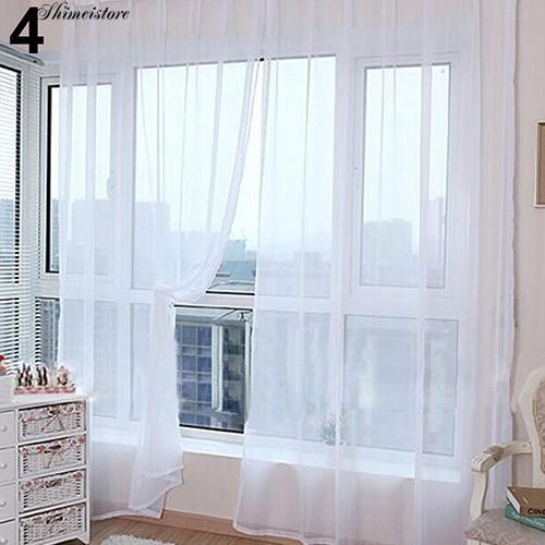 Rèm voan màu trơn trang trí nhà cửa