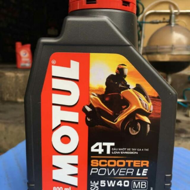 Dầu nhớt Motul Scooter power 5w40 800ml