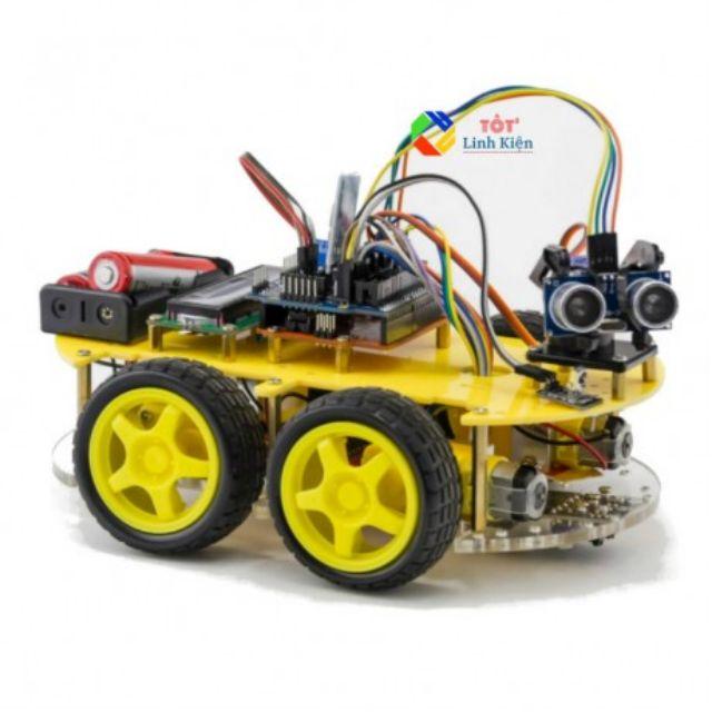 (Kèm code) Bộ xe robot thông minh 4 bánh - Smart Car KIT 4 Wheel
