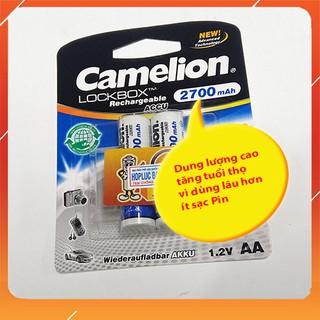 Pin sạc AAA,AA 1.2v Camelion 2700mAh LockBox