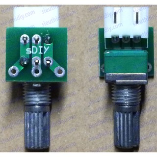 Bo mạch nối kéo dài chiết áp đơn di động chân 5.08mm và 2.54mm