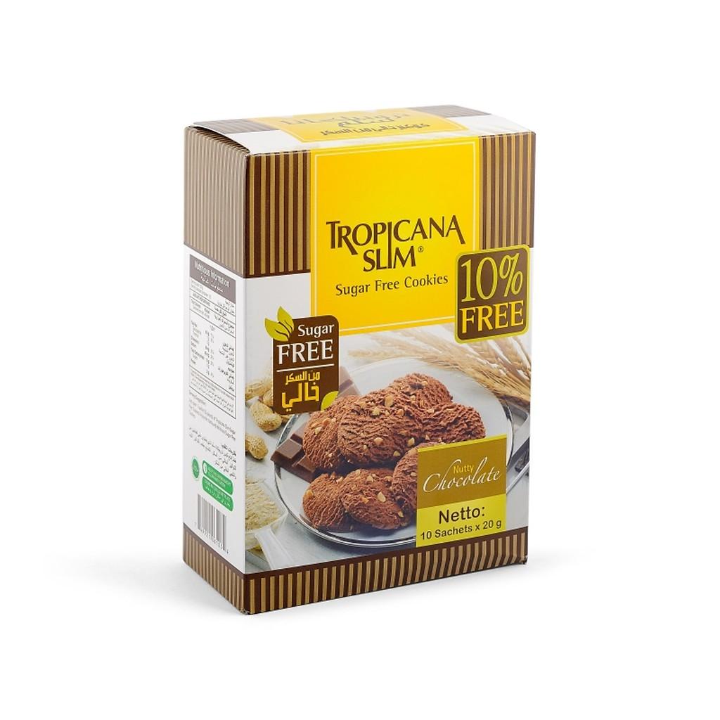 Bánh quy ĂN KIÊNG Tropicana Slim Chocolate 200g (10 x 20g) - Thích hợp cho người ĂN KIÊNG,TIỂU ĐƯỜNG