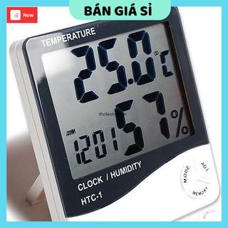 Máy đo độ ẩm  GIÁ VỐN  Máy Đo Nhiệt Độ Độ Ẩm Không Khí Trong Phòng và tích hợp đồng hồ giờ điện tử 3361