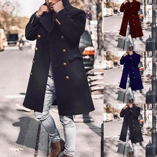 Mens Overcoat Overcoat Outwear Collar Parka Peacoat Casual Plus Lapel Sleeve Long Jacket Trench Singe-Breasted