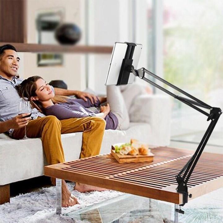 Giá Đỡ Điện Thoại, Ipad Xem Phim Kẹp Đầu Giường, Bàn ( 4.8 inch -> 10.5 inch)