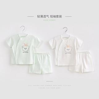 Baby Summer Suit Girls Cotton Children Two-Piece Baby Short-Sleeved Men's Thin Split Summer Children's Clothes