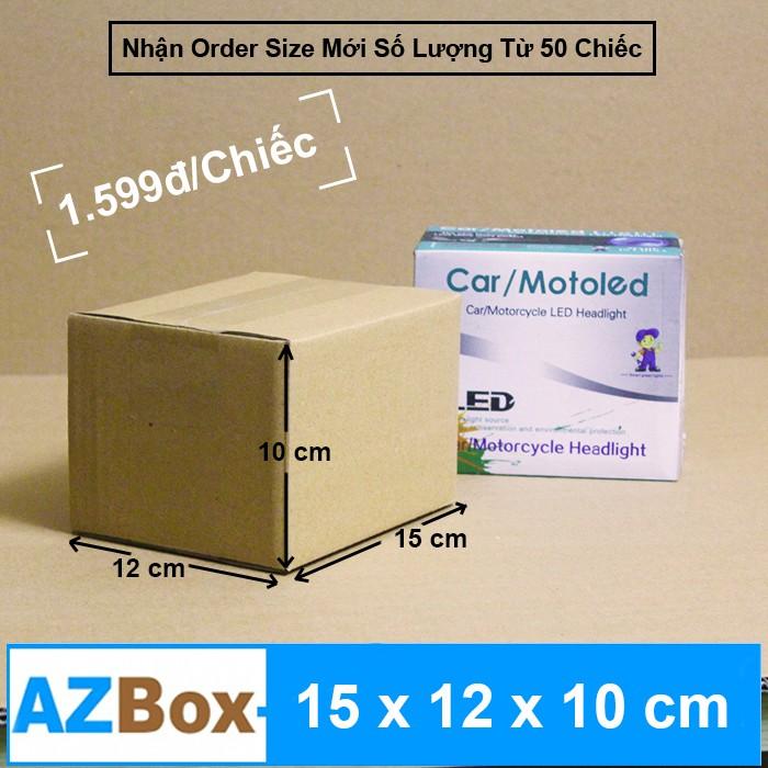 15x12x10 - Bộ 50 Hộp Carton AZBOX Shopee Mall (Giảm Phí Ship Đơn > 99k) AZ003