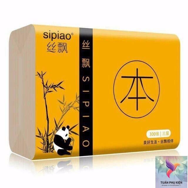 Giấy Ăn Gấu Trúc SIPIAO 🌜 Gói Giấy Ăn Gấu Trúc SIPIAO - Sẵn hàng 1Gói 🌜 Hàng Nội Địa Loại 1 Siêu Mềm Mại Siêu Dai