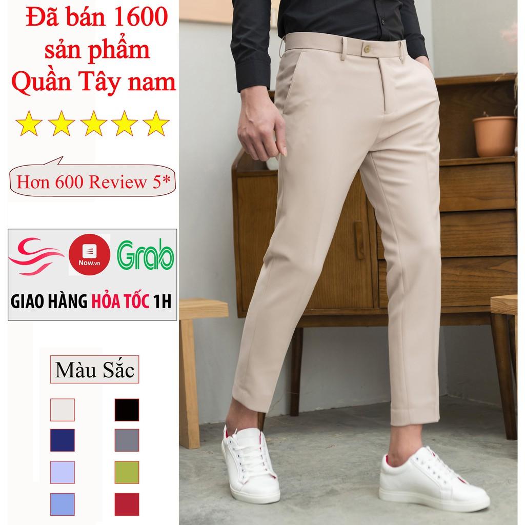 [Tiền Nào Của Nấy] Quần tây nam Hàn Quốc cao cấp, co dãn ,dáng đứng không nhăn dành cho nam cân nặng 45-78kg